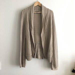 International concept sweater open front cardigan